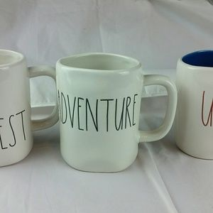3 NEW RAE DUNN COFFEE MUGS USA ADVENTURE